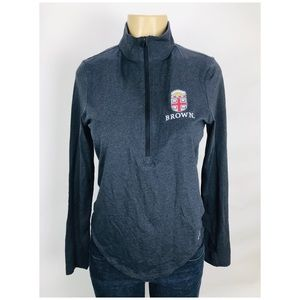 Brown University Under Armour Zip Top long Sleeve
